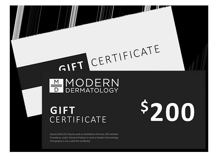 Dermatology Gift Certificates